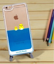 Liquid Yellow Swimming Duck Mobile Phone Case for iPhone 6