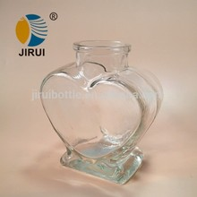 la forma del corazón que deseen botella de vidrio