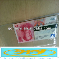 clear plastic ticket holder