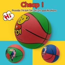 Bulk costomize kids rubber materials mini basketball 3# cartoon design