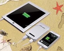 12000mAh smart mobile power bank double USB output large capacity portable power bank