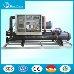 industrial 50 tr bitzer compressor water cooled screw chillers for air conditioner