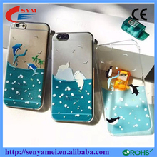 New Arrival For iPhone 6 TPU transparent clear case, Ocean Sea for iPhone 6 dolphins case
