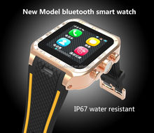 2014 New Bluetooth Smart Watch Watch Waterproof Wireless Smartwatch for HTC LG Android Cell Phones Smartphone