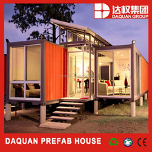 Strong steel frame low cost container prefab restaurant for sale