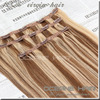 Double drawn cheap 100% human hair clip in hair extension for african american