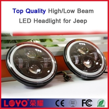 "Top Quanlity High/Low Beam Pattern 2G 48W halo 7"" jeep wrangler led headlight"