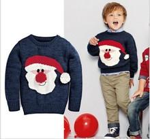 baby boy natal camisola pai natal estilo camisola de malha papai noel camisolas