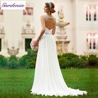 Vestidos De Novia Sexy Flowing Chiffon Beach Wedding Dress Vintage Boho Cheap Wedding Dress 2015 Robe De Mariage Bridal Gown