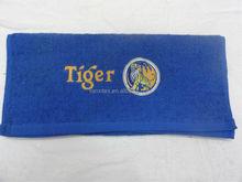 100% cotton Tiger Beer Brand promotion embroidery sport towel/face towel