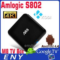 download wifi software for pc M8 usb flash drive tv player S802 quad core 2.4G/5G wifi 4k internet tv set top box