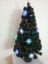 Natured Tree Yiwu Firework Fiber Optic Christmas Tree With Colorful Snowflake Lights, Christmas Tree Ornament