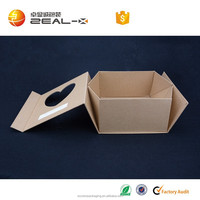 Square Mid Depth Kraft Recycled Natural Box Birthday Gift Selling In England 198*150* 48mm