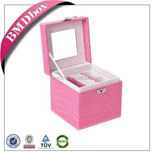 made in China custom logo printed big lots leather jewelry box wholesale