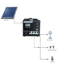 10W Solar Power System Solar Energy for family light with mobile charge