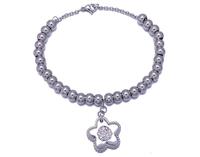 stainless steel jewelry bead bracelet new design ladies bracelet models
