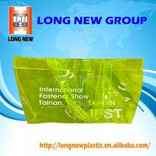 Offset printing glossy clear pvc shopping plastic bag