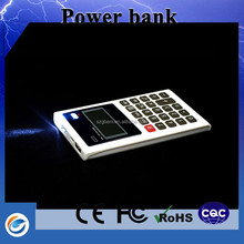2015 new product Calculator power bank made in china