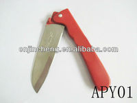 red color custom pocket knife