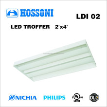 UL DLC approved 61W 1200x600mm led direct/indirect 5 years warranty LDI02 2X4
