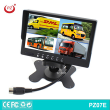 Cheap 4 ways video inpupt 7 inch widescreen tft lcd monitor