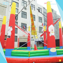 Round Bungee Trampoline Air Bouncer Inflatable Trampoline for Kids