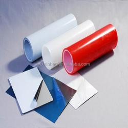 PE stainless steel protection film transparent film blue film print logo medium low adhesion hot sale