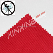 155gsm 100% Cotton anti-mosquito and anti-UV and flame retardant twill fabric for protective workwear