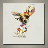Modern Handmade Pop Animal Oil Painting, Colorful Cute Animal Wall Art