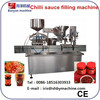 Automatic CE ISO 9001factory price chilli sauce bottle/jar filling capping machine/0086-18516303933