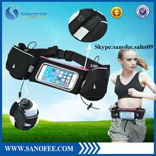 for iPhone 6/6s sport waist bag with bottle holder, waist bag for running