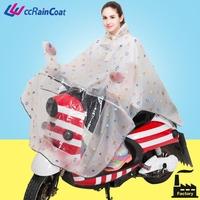 Fashion design reusable printed rain poncho for motorcycle