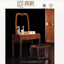 China High-End solid wood bed room furniture, Africa style walnut wood bed room furniture dressing stool