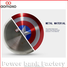 AK-06 New Arrival Cool Portable Power Bank 5000mAh The Avengers Captain America Shield Charger Mobile Power bank