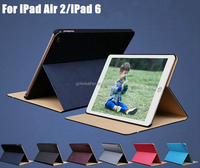 Luxury Design Ultra Thin Flip Leather Smart Stand Case For iPad 6/Air 2 Sleep / UP