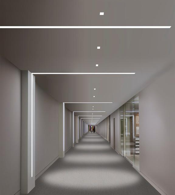 Perfil de Aluminio Curvado para Techo o Colgante para Tira de LEDs ...