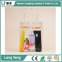 vinyl makeup case / plastic lotion packaging bag / PVC mini cosmetic bag