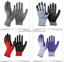 Cotton Shell Laminated Rubber Palm Protection Gloves