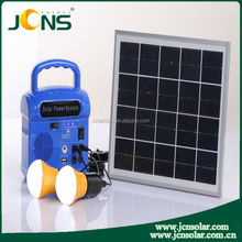New design 6w solar power system include portable solar cell panels