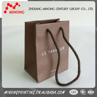 Custom printed cheap brown paper bags with handles
