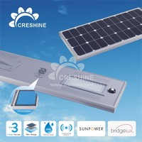CE RoHS 60W Outdoor Solar LED Street Light Luminaires
