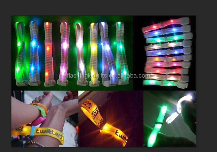 Led Flash Bracelet Light Up Glow Wristband Bracelet For Runner And ...