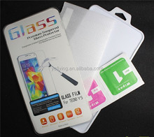 YC Free Sample mobile phone competitive price Lcd screen protector wholesale for tecno H7 tempered glass screen protector