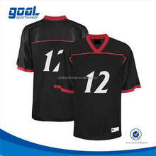 Dye sublimation sports football kits blank american football jerseys