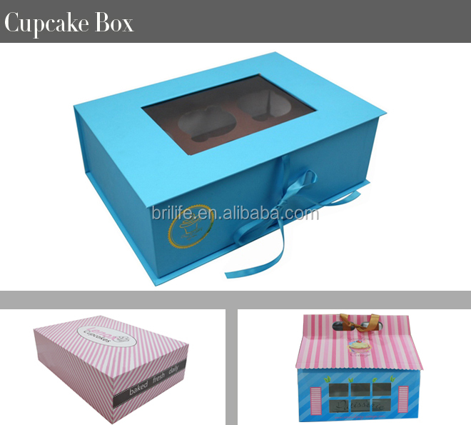 luxury custom mini paper cupcake box