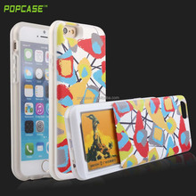 PC mobile phone case cover for iphone6 credit card holder creative slide design case