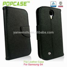 de alta calidad de cuero de teléfono de la tapa para samsung galaxy s4 9500