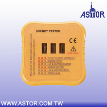 Detect faulty wiring status in 3 wire receptacle Socket tester for UK