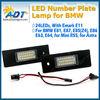 Good E81 E87 E87N E85 E63 E63N E64 LED license plate lamp for BMW