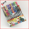 Made in cixi colorful glitter gel ink pen with comfortable grip for stationery store